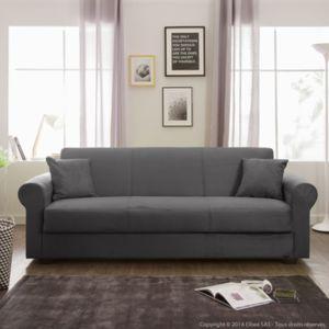 canap convertible clic clac tissu microfibre 3 places coffre fleur pas cher achat vente. Black Bedroom Furniture Sets. Home Design Ideas