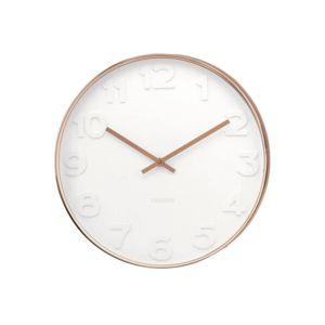 Karlsson horloge murale ronde en m tal contour cuivr - Horloge murale cuivre ...