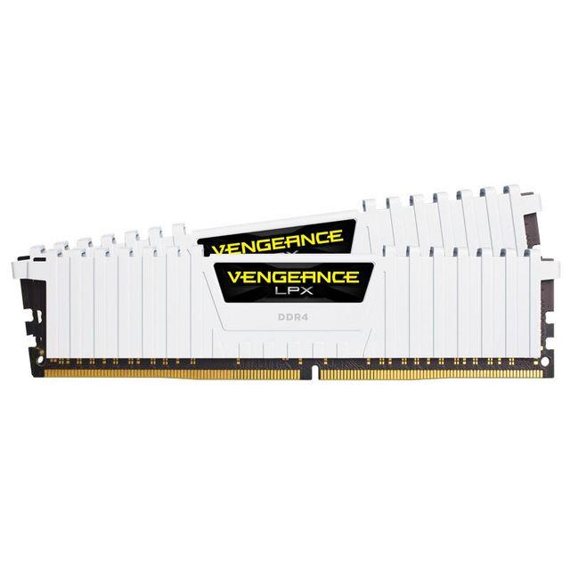 CORSAIR Vengeance LPX 32 Go 2 x 16 Go DDR4 3200 MHz Cas 16 Les mémoires PC hautes performances DDR4 Vengeance LPX de Corsair ont été conçues pour les systèmes les plus exigeants : 32 Go (2x16 Go) - DDR4 - 3200 MHz - CAS