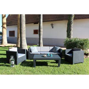 CONCEPT USINE - Tropea: Salon de jardin 5 places effet résine ...