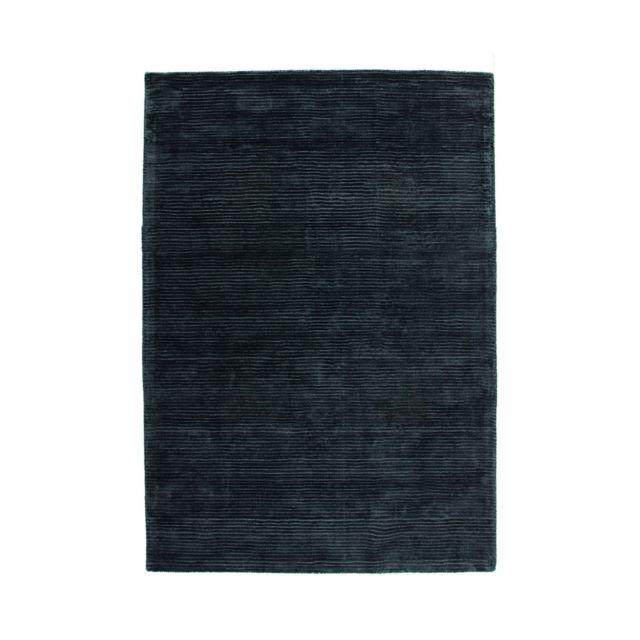 deladeco tapis anthracite uni en viscose courtes m ches boston pas cher achat vente. Black Bedroom Furniture Sets. Home Design Ideas