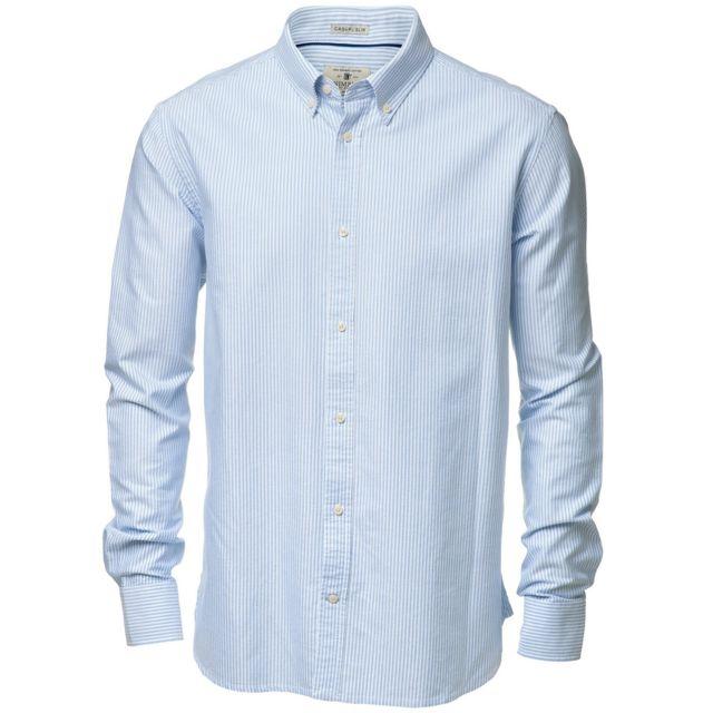 Nimbus Rochester - Chemise formelle à manches longues - Homme L, Blanc/Bleu clair Utrw3633