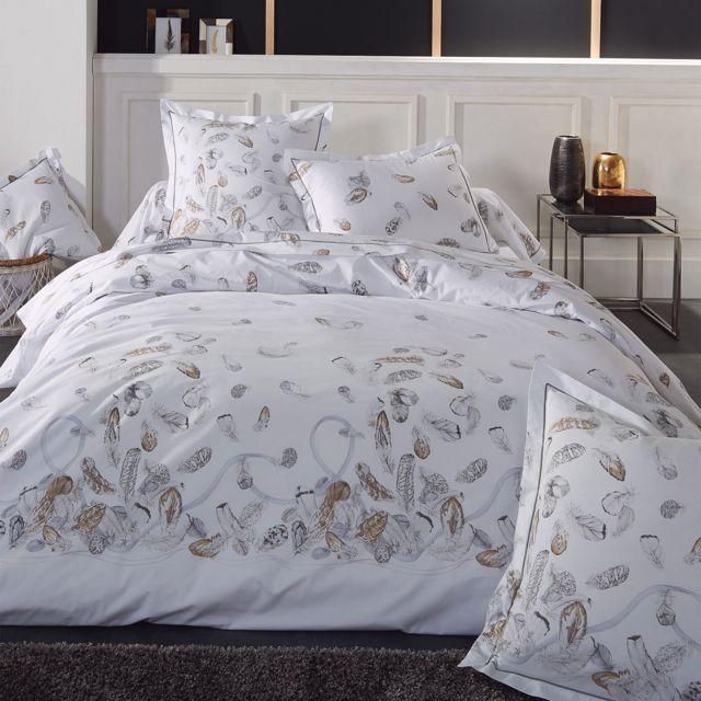 linnea parure de lit 140x200 cm percale pur coton plumes pas cher achat vente parures de. Black Bedroom Furniture Sets. Home Design Ideas