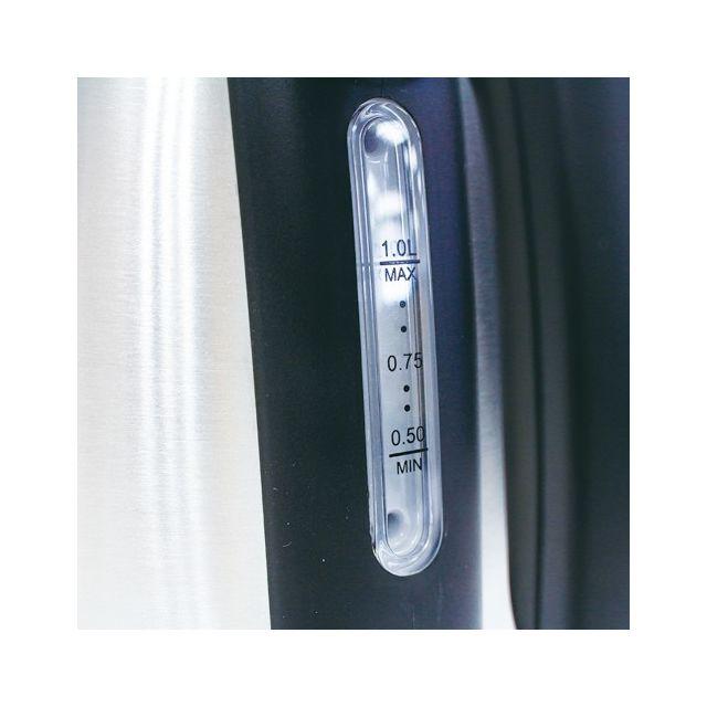 MANDINE Bouilloire MWK01-16 Puissance : 2200 W - Capacité 1 L - Poignée ouverte avec bouton d'ouverture du couvercle pour une prise en main aisée - Indicateur de niveau d'eau - Arrêt automatique - Résistance cachée - Filtre anti-tartre amovible - Range co