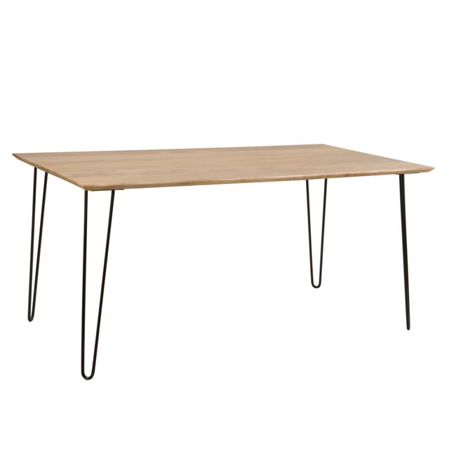Rendez Vous Deco Table rectangulaire Kiwi 160 cm en bois