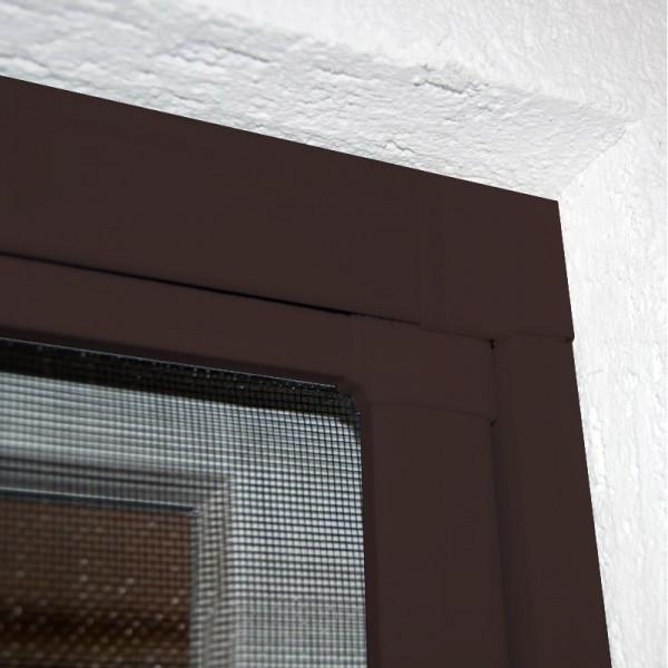 Moustiquaire Coulissante Porte et Baie-vitrée - Alu Marron L230 x H240 cm à découper soi-même