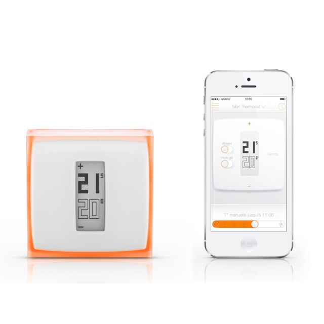 netatmo thermostat by starck nth01 fr ec pas cher achat vente domotique connect. Black Bedroom Furniture Sets. Home Design Ideas