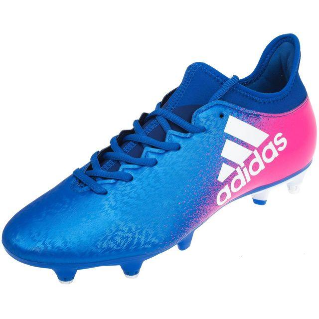 wholesale dealer 5e5c4 f118f Adidas - Chaussures football vissées Adidas X 16.3 sg hy bleu rose Bleu  38833