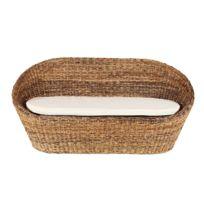 Rotin-design - Canapé Maya 2 places en rotin abaca
