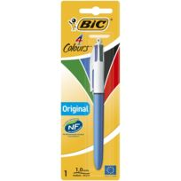 Bic - Stylo bille 4 couleurs Original - Rétractable - Pointe moyenne