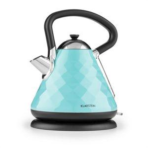 klarstein curacao azur bouilloire lectrique sans fil 2200w 1 7l inox bleu pas cher achat. Black Bedroom Furniture Sets. Home Design Ideas