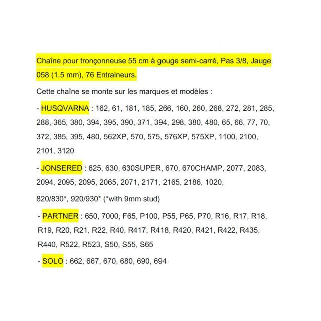 Cha/îne Pro 35cm pour tron/çonneuse 3//8-050-1,3mm-50 Entraineurs = 91-50E