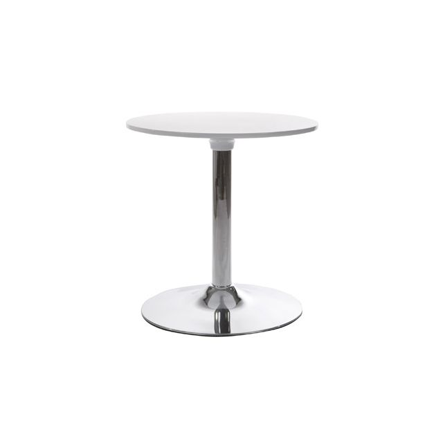 Table basse design 60x60x60cm Marsu - blanc