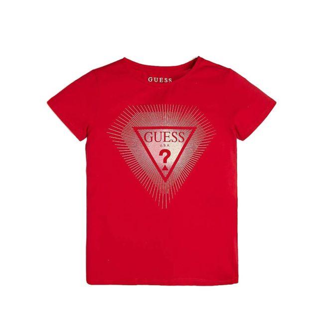 T shirt rouge fille Multicouleur 08A