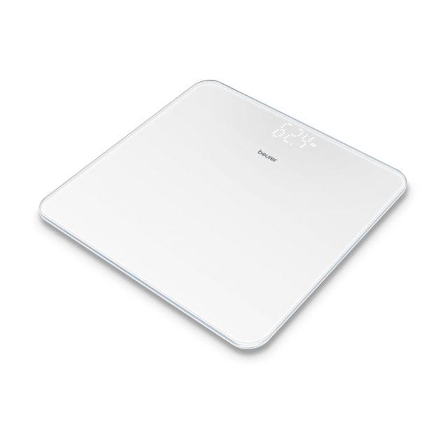 BEURER Pèse-personne en verre avec écran invisible Magic-LED GS 225 blanc