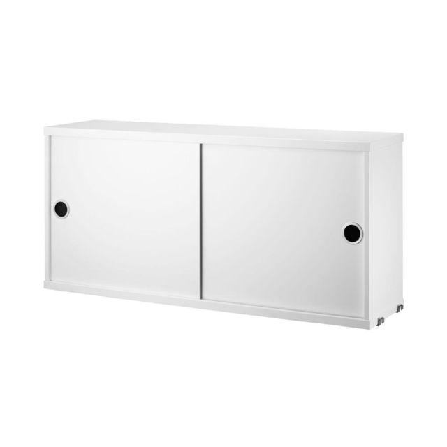 String Armoire à portes coulissantes - 20 cm - blanc