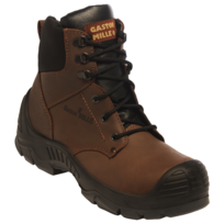 GASTON MILLE - CHAUSSURE DE SECURITE HAUTE MARRON UNION S3 HI CI SRC EN ISO 20345 - ONTA30