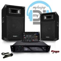 My Deejay - Pack Sono Dj500-AX-USB ampli + Hp 500W Table de mix