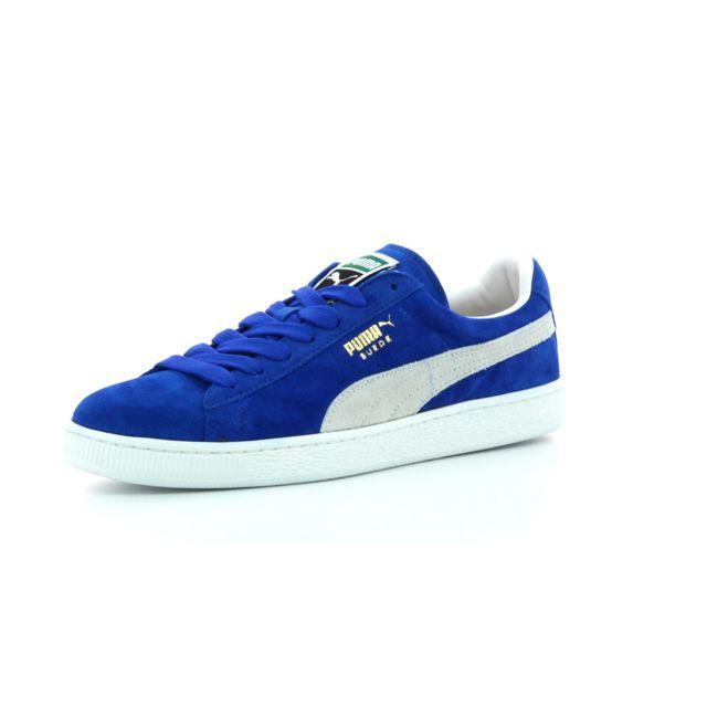 Puma - Baskets basses Suede Classic Bleu