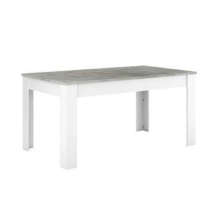 Table haute 160x90cm décor chêne et blanc