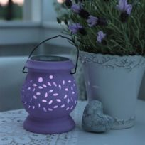 Star - Lanterne solaire Clay Lilas