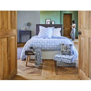 tex home parure rivoli housse de couette 2 taies d 39 oreiller bleu 260cm x 240cm pas cher. Black Bedroom Furniture Sets. Home Design Ideas