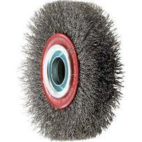 Forum - Brosse circulaire, fil d'acier de 0,3 mm, ondulé, Ø de la brosse : 125 mm, Epaisseur du fil 0,30 mm, Larg. : de travail 22 mm, Vitesse maxi. : 6000 tr/mn