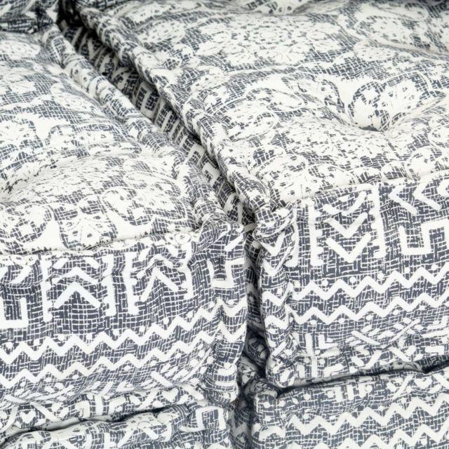 Icaverne - Canapés ensemble Canapé-lit modulaire à 2 places Gris clair Tissu