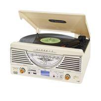TREVI - TT-1062E Chaîne HiFi stereo vintage USB SD MP3 -blanche