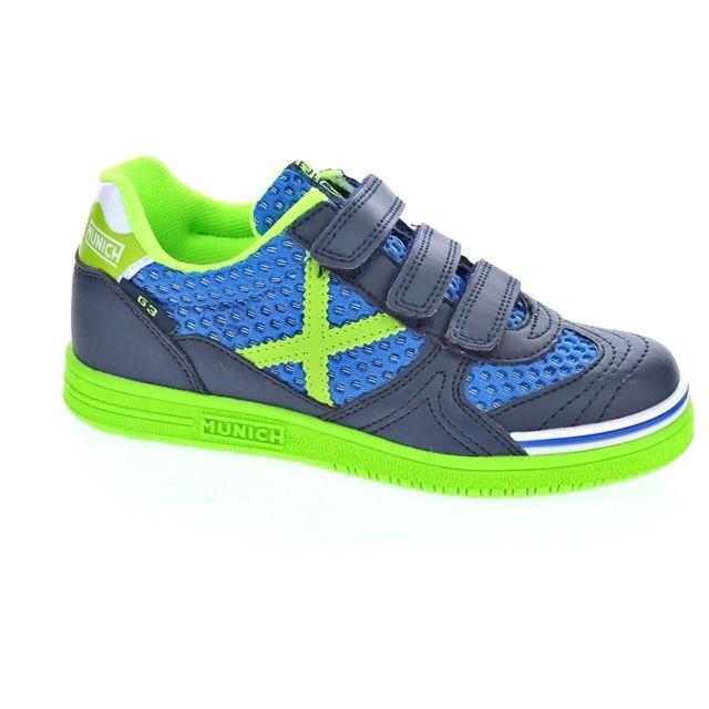 41d8257b6a11c Munich Sport - Chaussures Munich Sport Garçon Baskets modele G-3 Indoor Vco