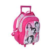 Violetta - Sac à dos à roulettes scolaire trolley Fille enfant école Disney - Rose