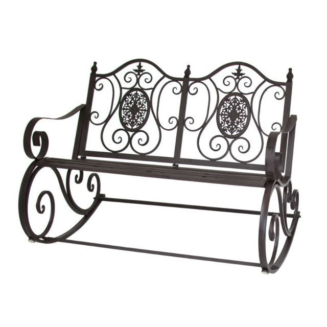 Chemin De Campagne - Banc Rocking Chair de Jardin en Fer ...