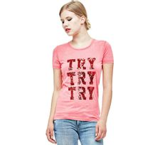 Guess - T-shirt Femme Try Red