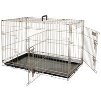 be1020ceb58706 Cages de transport pour animaux de compagnie Chic Flamingo Cage pour  animaux Ebo Marron métallisé 61