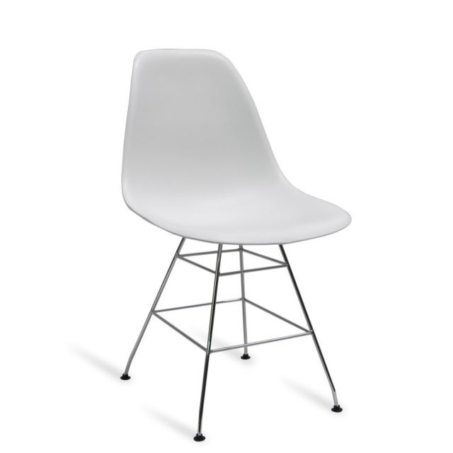Novara Mobili - Pack 2 chaises Chrome Office Pyramid Tower Style Blanche