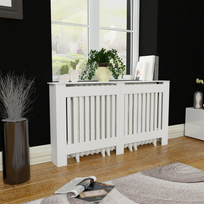 Rocambolesk - Superbe Cache-radiateur Blanc Mdf 152 cm neuf