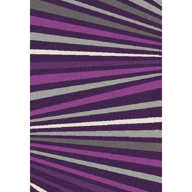 DeBonsol - Tapis salon Wellness Fashion violet ligne - pas cher ...