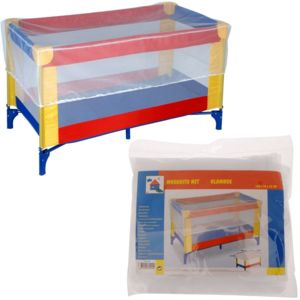 promobo moustiquaire lit pliable b b 100 coton 130cm x 70 x 33cm pas cher achat vente. Black Bedroom Furniture Sets. Home Design Ideas