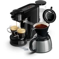 PHILIPS - Cafetière à dosettes et filtre Senseo Switch HD7892-61