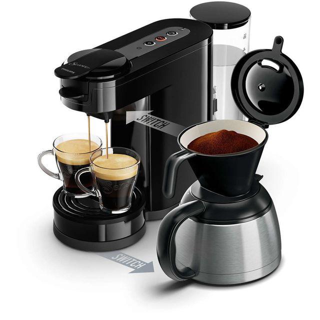 PHILIPS Cafetière à dosettes et filtre Senseo Switch HD7892-61