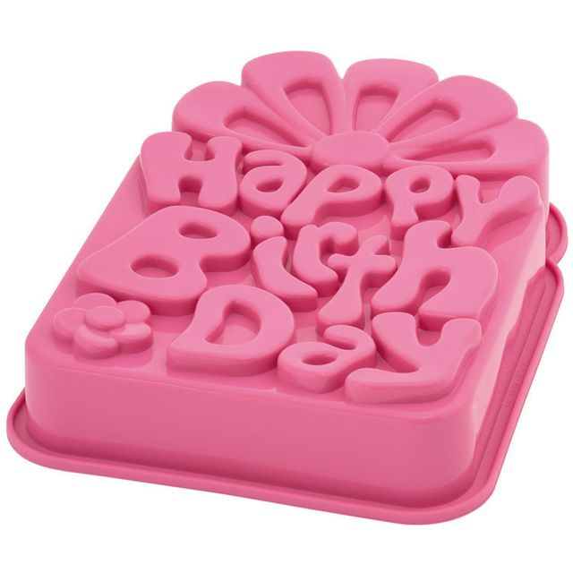 Pavonidea Moule à gâteau en silicone platine - Anniversaire
