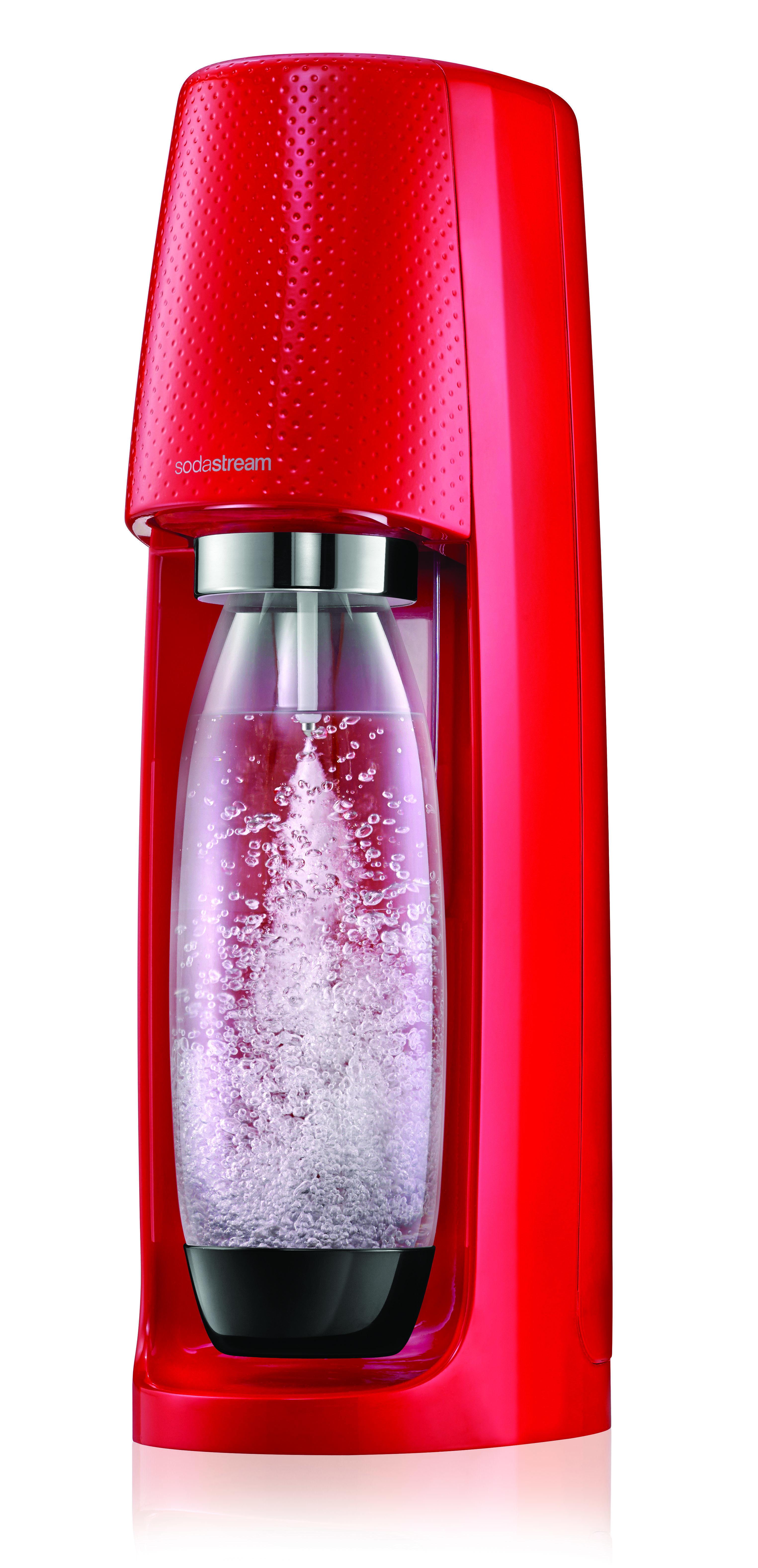 Machine à gazéifier + 2 verres - SPIRIT - Rouge