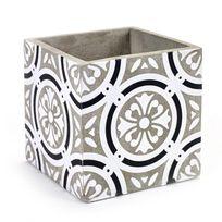 Serax - Cache pot en béton motif carreau de ciment 15x15cm Arya
