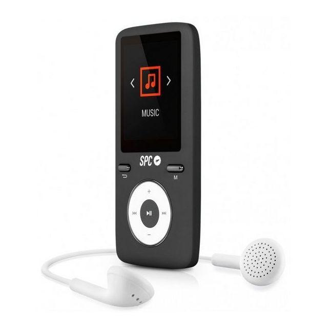 Totalcadeau Lecteur Mp3 et Mp4 portable 8Go noir - Écran Lcd, Radio Fm Rechargeable avec Casque audio