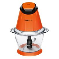 Clatronic - Hachoir 2-en-1 multi-usages 1,0L Mz 3579 orange 250W