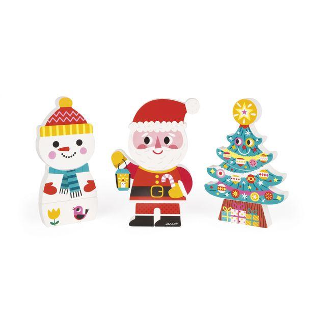 Janod 3 amis magnétiques Le Père Noël et ses amis