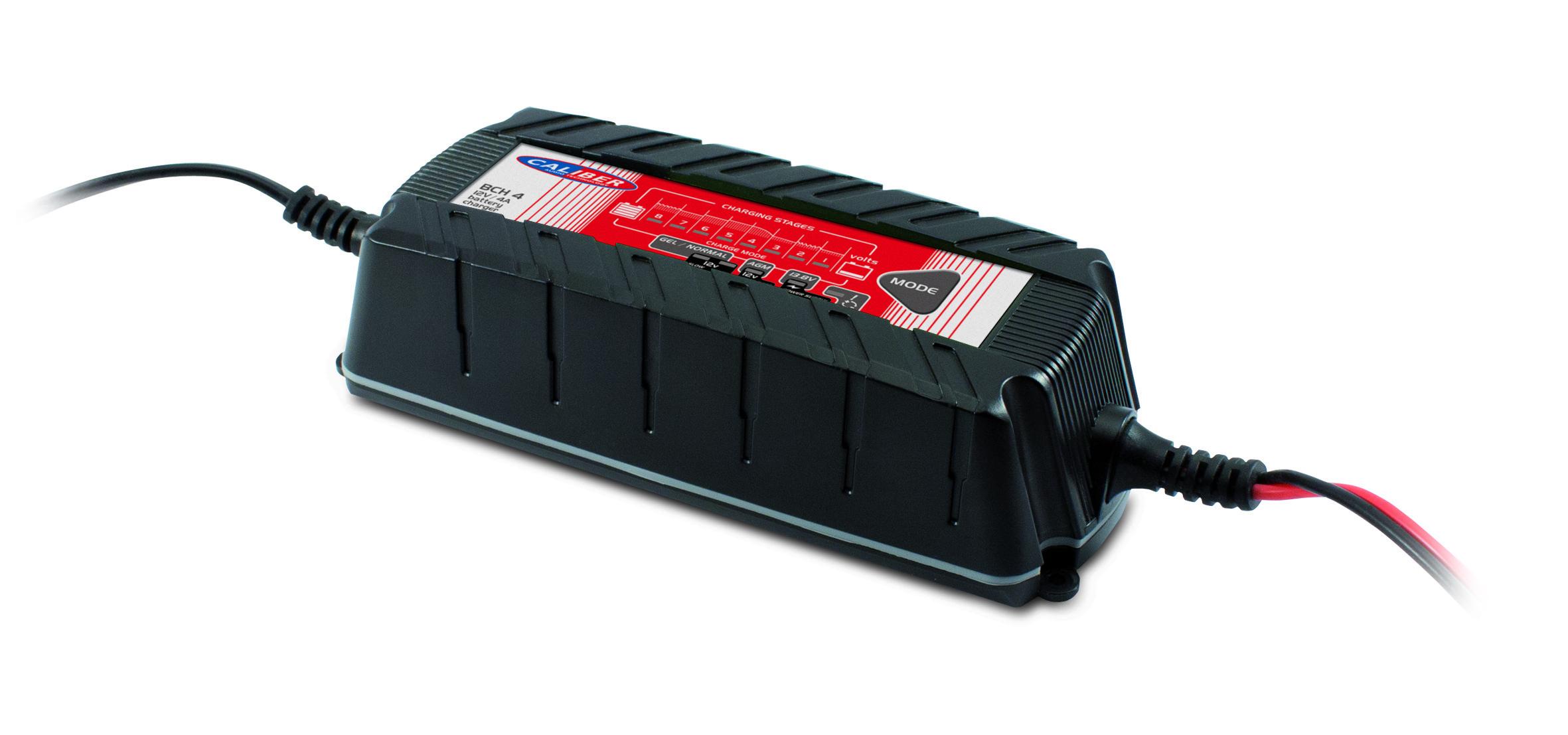 Chargeur de batteries 12V/4A à 8 étapes