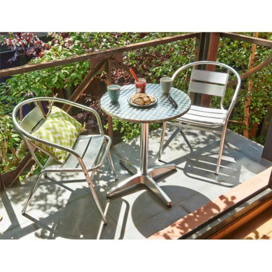 Table de jardin ronde Alu - Dia. 60 x H 70 cm à Prix Carrefour