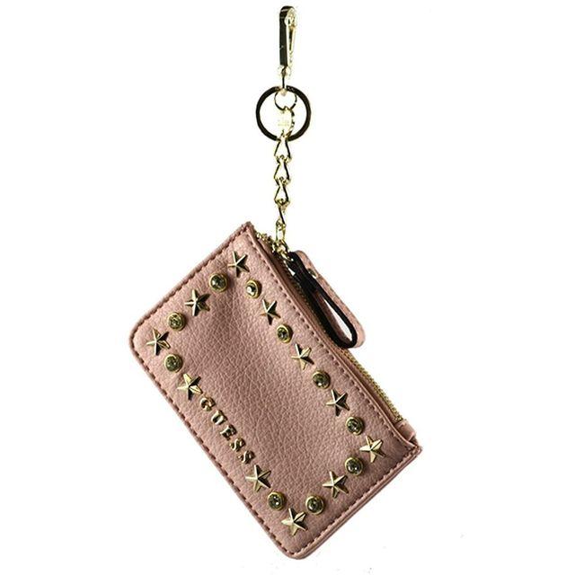 0a916a7117ce Guess - Porte-Monnaie Femme Flat Rose - pas cher Achat   Vente Porte- monnaies - RueDuCommerce