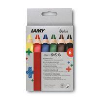 Lamy - Fh22002 BoÎTE CartonnÉE De 6 Crayons De Couleurs 3PLUS